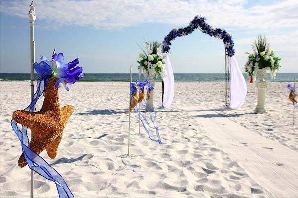 Beach Wedding. Starfish.