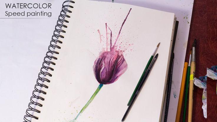 Как нарисовать #цветы акварелью - #Мак #акварель https://www.youtube.com/watch?v=ddjJLFvDcxY