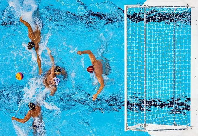 Men's Water Polo ... Spain VS Serbia at the #Rio2016 #Olympic Games - Photo by Erick W. Rasco #Robotics #sioriginals
