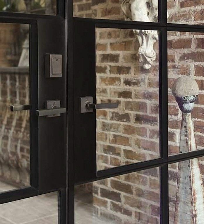 Rocky Mountain Hardware // Metro Collection makes an appearance on Remodelista today!  http://bit.ly/1ElDm7n  French door detail by Portella Iron Doors   Remodelista