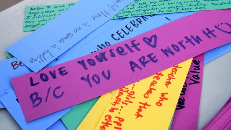 Messages written by Crescenta Valley High School Gay Straight Alliance allies