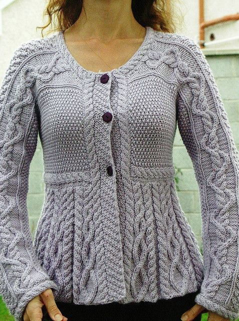 "Debbie Bliss's ""Silver Belle"" from Vogue Knitting magazine.-now a free pattern on Ravelry"