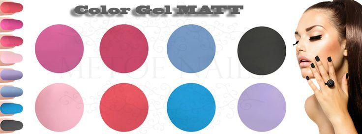 Color Gel Matt. UV Nagel Gel die meer dan 2 weken mooi blijven, zonder afbladderen of beschadigingen. Het heeft een gemakkelijke 1-laagsapplicatie. Alle kleuren zijn perfect voor over natuurlijke nagels en overlays. Geschikt voor zowel nagelstyliste als pedicure. Goed roeren voor gebruik.