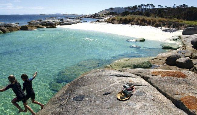 Sawyers Bay Shacks, Flinders Island, Tasmania