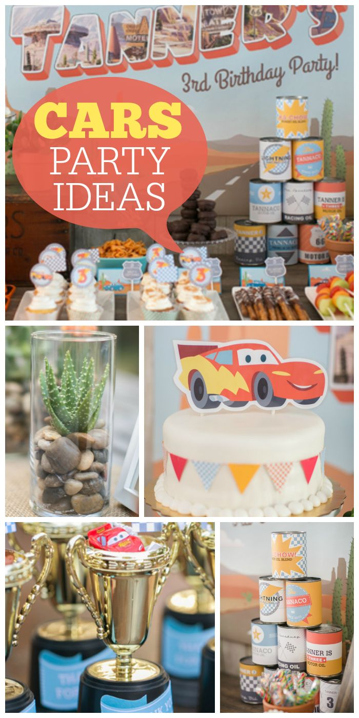 Come out to Radiator Springs and see this amazing Cars party!  See more party ideas at CatchMyParty.com!