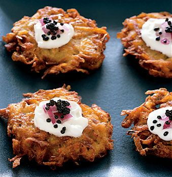 American Caviar with Crispy Yukon Gold Potato Pancakes Recipe ...