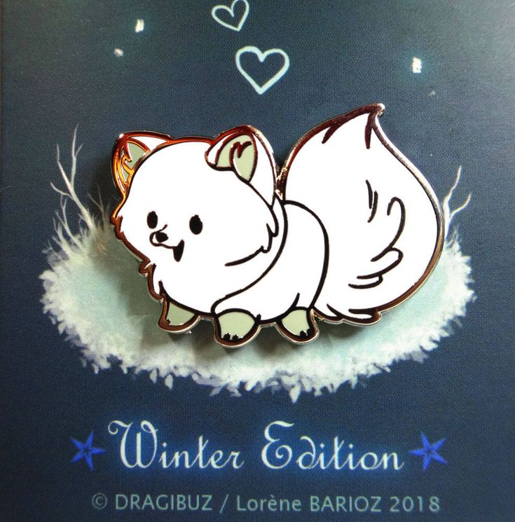 Fluffy Foxy -WINTER EDITION- Hard Enamel Pin by Dragibuz on Etsy