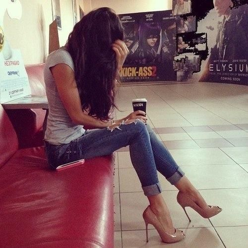 jeans and shoes