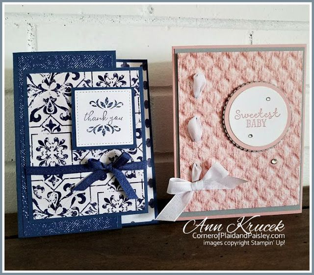 Handmade Cards Using 2020 Christmas Dsp From Stampin Up Stampin' Up! In Good Taste DSP cards #ingoodtastedsp in 2020