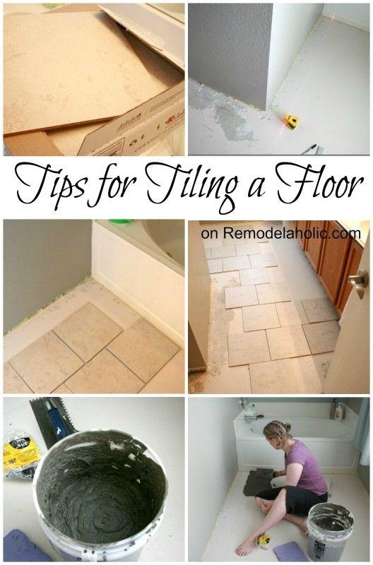 Tips for Tiling a Floor #tile #floor remodelaholic