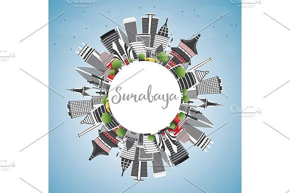 #Surabaya #Skyline by Igor Sorokin on @creativemarket