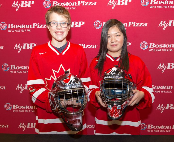 Canada's Junior Team Goaltenders Presented with 2016 IIHF Masks