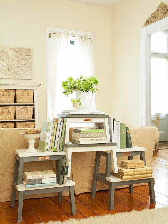 Cute little bookshelf for displaying favorite books - home library design