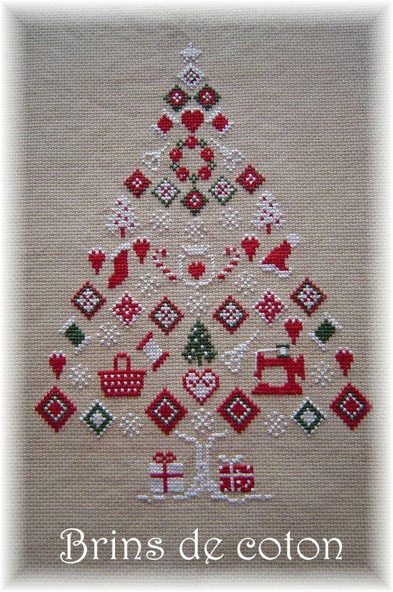 Cross Stitch Chart Christmas Tree / Kreuzstich Vorlage Weihnachtsbaum Weihnachten Winter