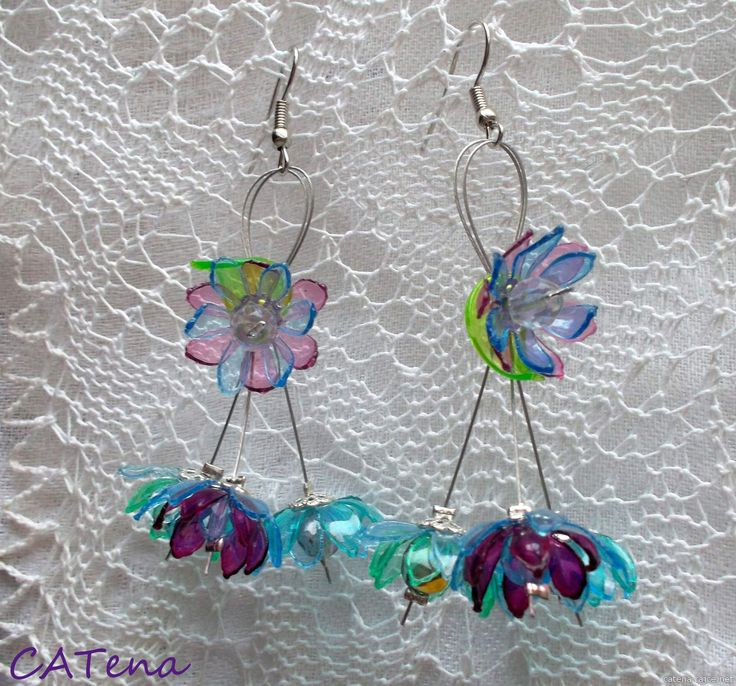 recycling plastic bottle jewelry