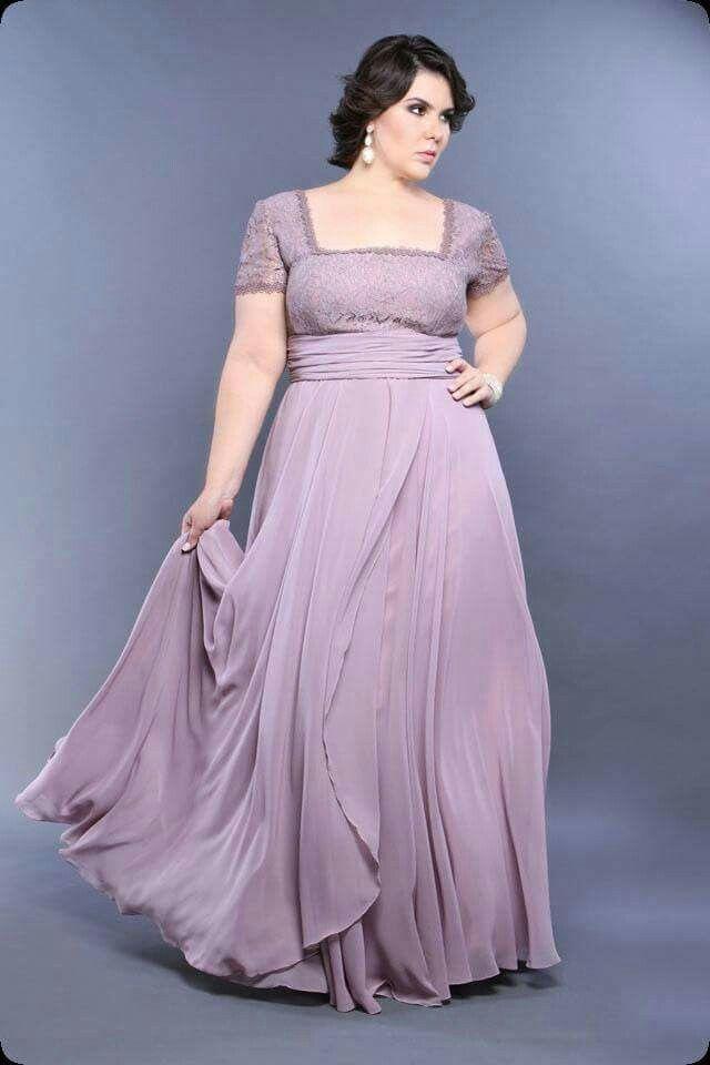 Great mauve lavender dress for Babushka