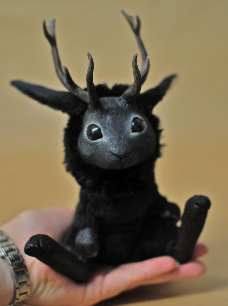 Fantasy | Whimsical | Strange | Mythical | Creative | Creatures | Dolls | Sculptures | Magweno!: magweno: magweno: Black Jackalope eBay...