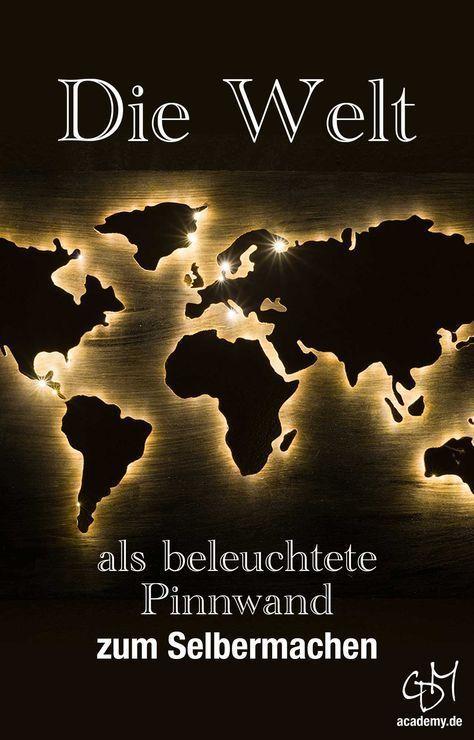 Bastelanleitung: Die Welt als Pinnwand