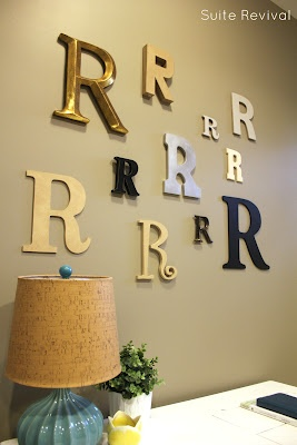 """My letter """"R"""" wall."""