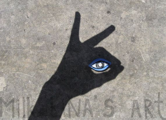 Брошь ручной работы в форме глаза украшение из от MilkLinasArt