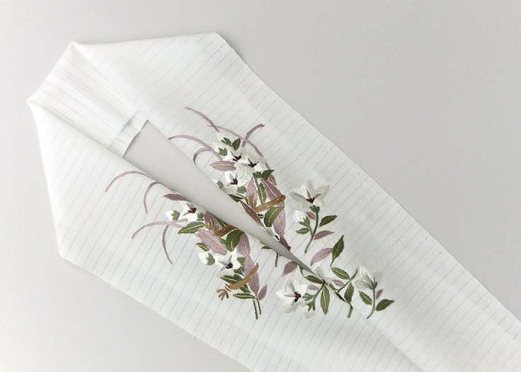 正絹手刺繍半襟(絽)