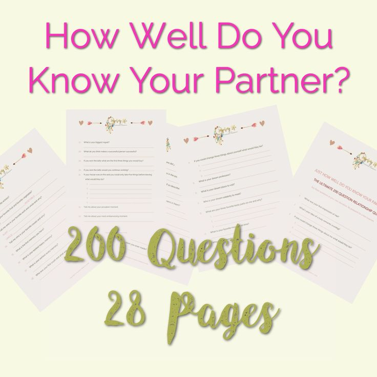 Free Relationship Quiz Printable - 200 Questions To Ask -1992