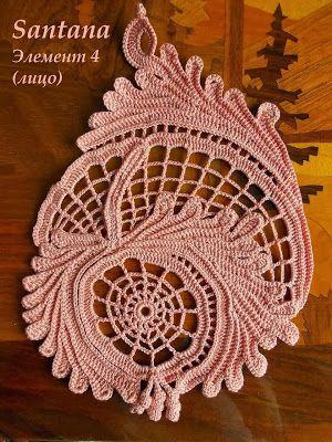 Irish crochet &: Мотивы для Ирландского кружева от Santana