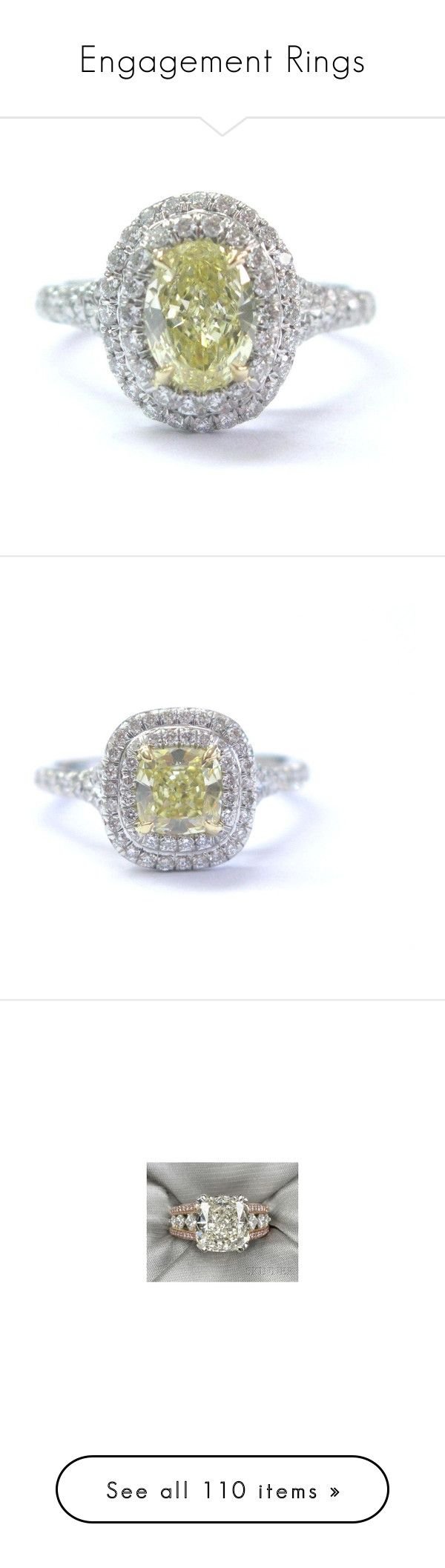 engagement rings by nikki usmc92 liked on polyvore featuring jewelry rings yellow diamond rings preowned wedding rings yellow diamond engagement - Preowned Wedding Rings
