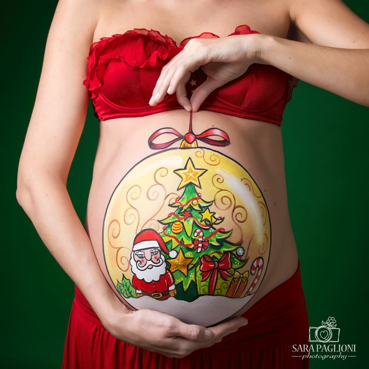 "Christmas"" <b>belly painting</b> by Marilena Censi *photo Sara Paglioni"