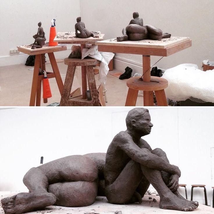 #sculpture #livemodel #clay #studio #ecolenationaledesbeauxarts #gaud #art