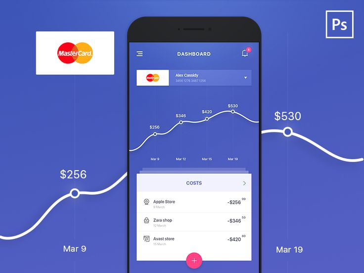 Concept for Bank Statistic App by Alex