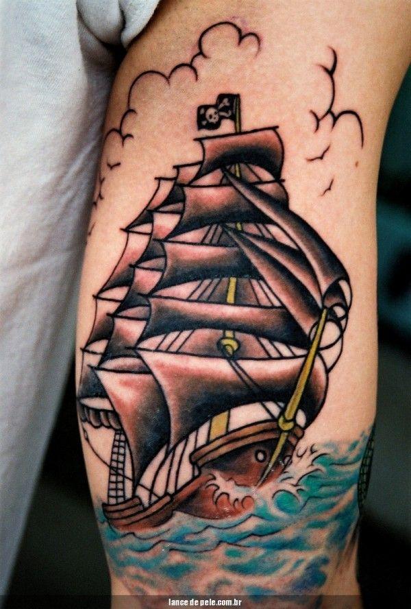35 exemplos de tatuagens de caravela