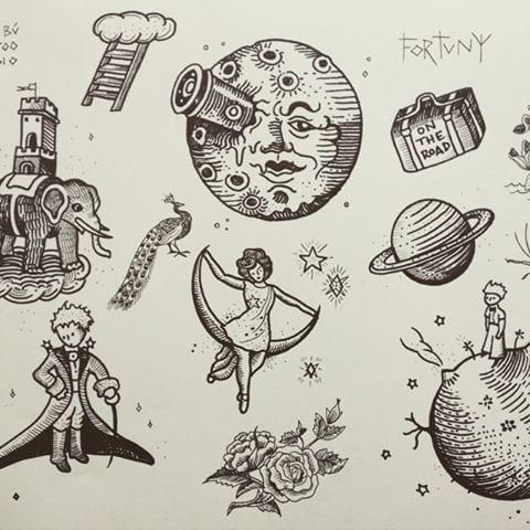 Image result for little prince tattoos rose