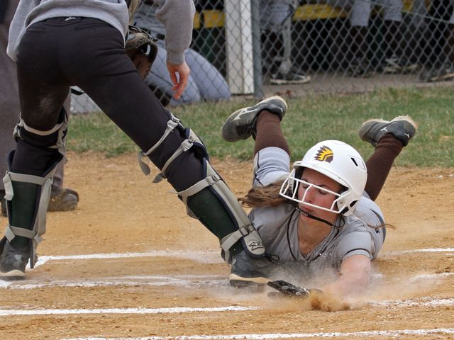 Watchung Hills Defeats Montgomery In Softball Softball Football Helmets Montgomery