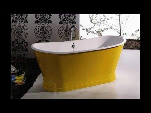 Bañeras románticas de faldón. Baños con encanto - YouTube