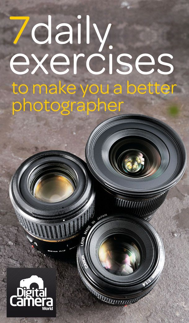 7 daily exercises that will make you a better Photographer. #photography #tips #exercises http://www.digitalcameraworld.com/2015/02/02/become-professional-photographer/?hootPostID=f3a95a019116fc5c112bdf2541e399ed ❤️