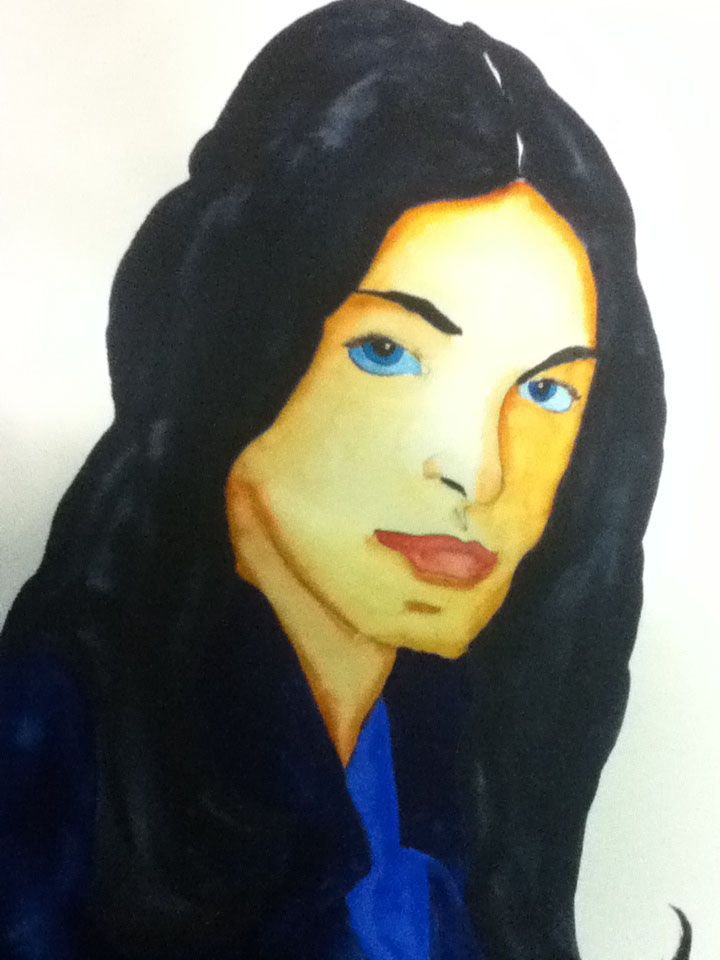 Woman with Blue Eyes by James Picard