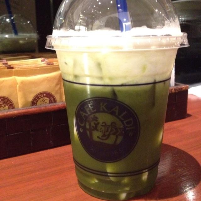 Pudding Green Tea Latte