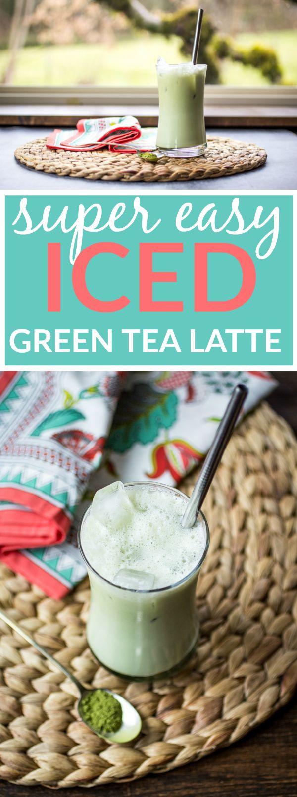 Easy Iced Green Tea Latte http://thewanderlustkitchen.com/easy-iced-green-tea-latte/