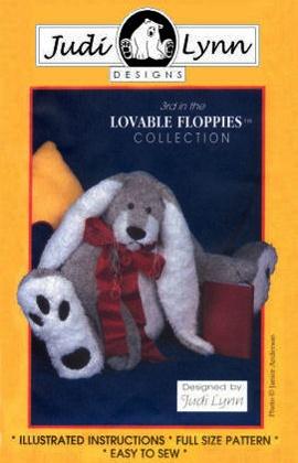 Teddy Bear Sewing Patterns, Large Floppy Teddy Bear Sewing Patterns, Large Bunny Patterns, Stuffed Animal Patterns, by Judi Lynn Designs.