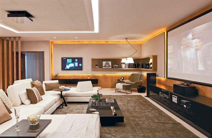 Sala Pequena Sofa Retratil ~ 17 salas grandes integradas com cozinha, sala de jantar e até garagem