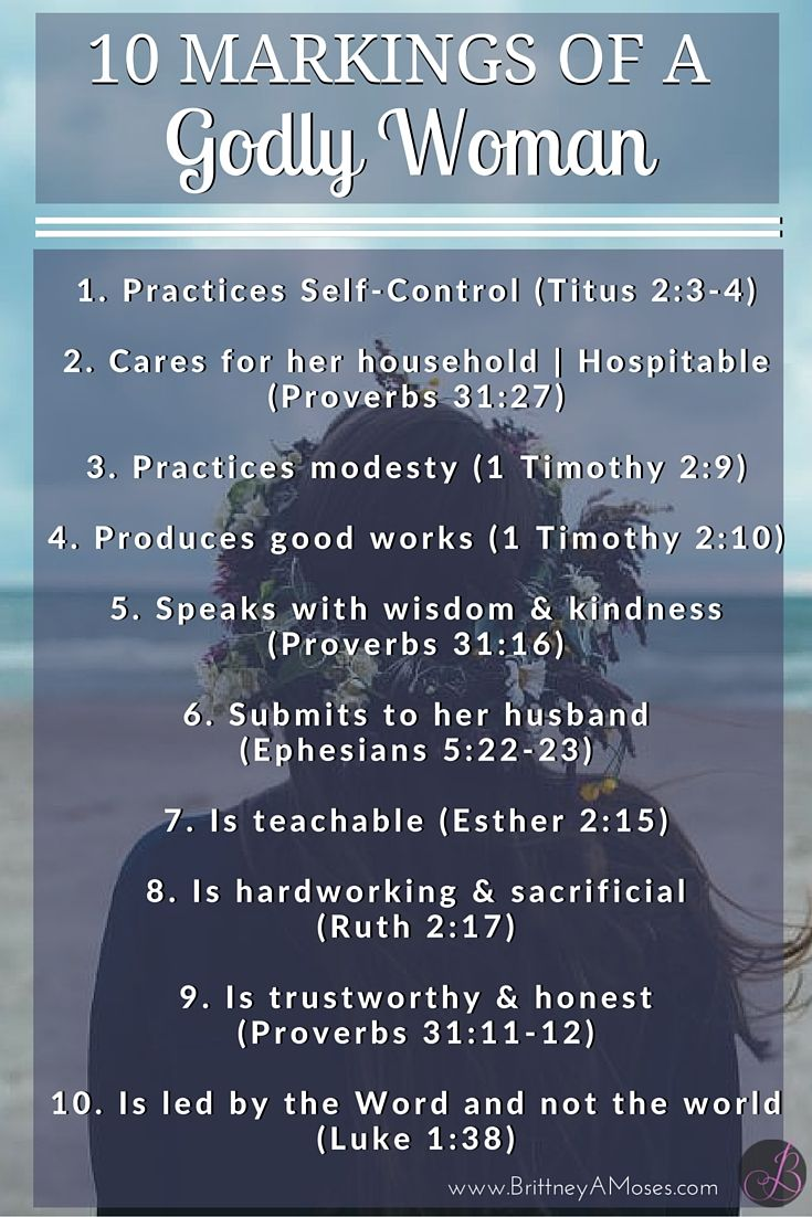 10 MARKINGS OF A GODLY WOMAN (8) - Brittney Moses