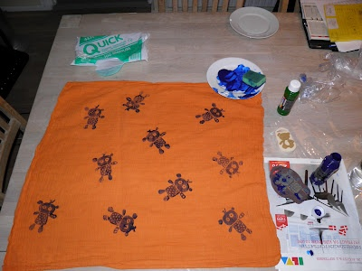 Dyed muslin cloths