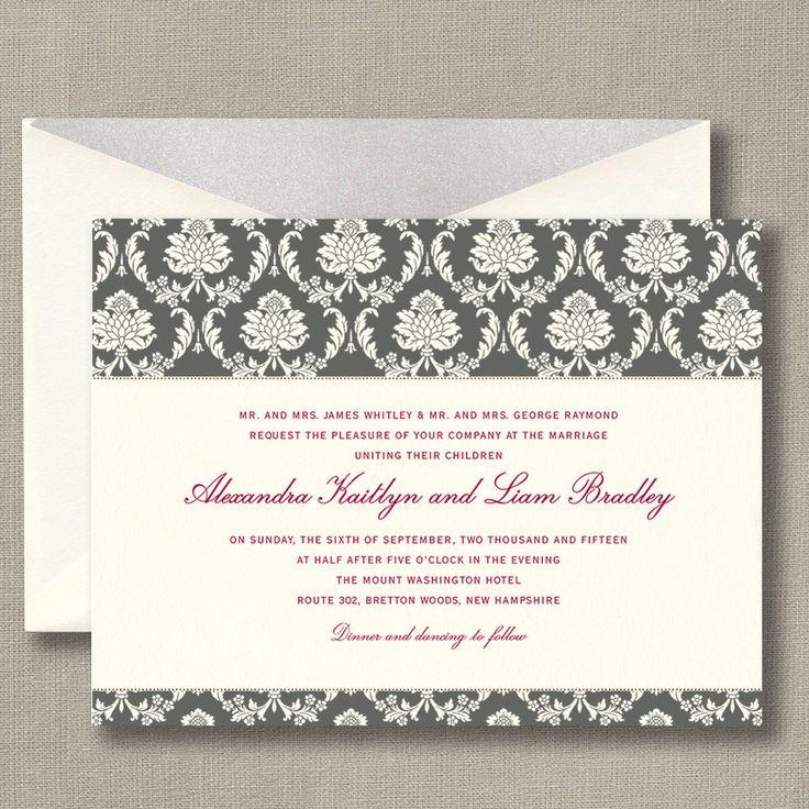 128 best Wedding Invitations images on Pinterest | Bat mitzvah ...