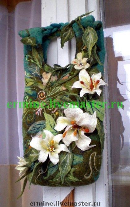 3D Felted Floral Satchel