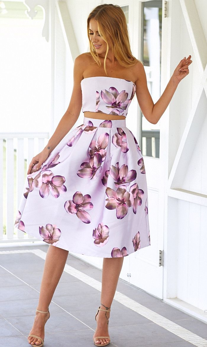 Midnight Rose Midi Skirt