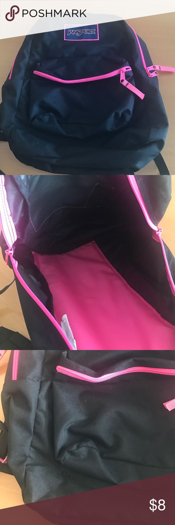 Pink & Black Jansport Backpack Great Condition, very minor signs of wear, still lots of use left in it! Jansport Bags Backpacks