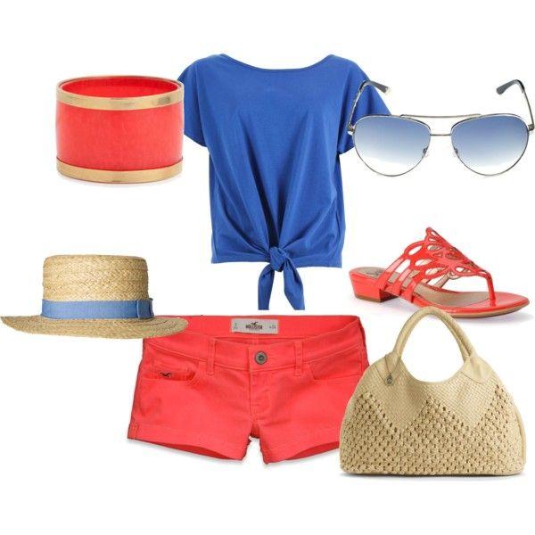 Summer: Coral & Blue: Dream Wardrobe, Honeymoon Wardrobe, Summer Beach Outfits