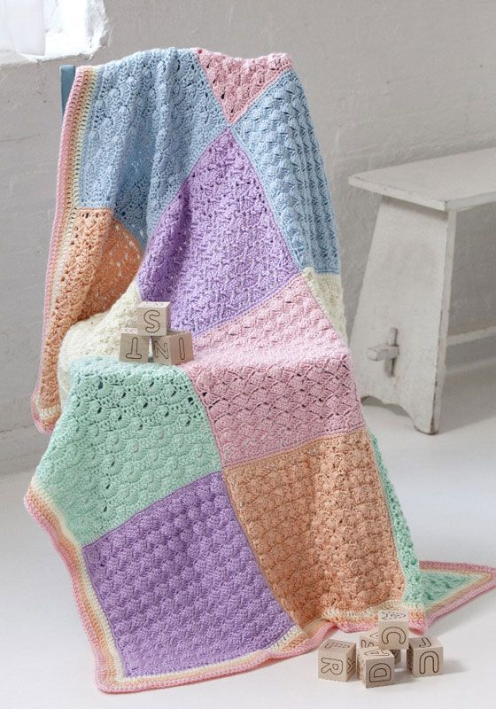 Caron Crochet Baby Blanket Pattern : 1000+ images about Crotchet Childrens Blankets on ...