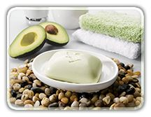 Avocado Face and Body Soap. Avocado is a rich source of vitamins A, B, D and E Contains antioxidants to help combat free radicals Suitable for dry and sensitive skin Moisturises as it cleanses the skin.